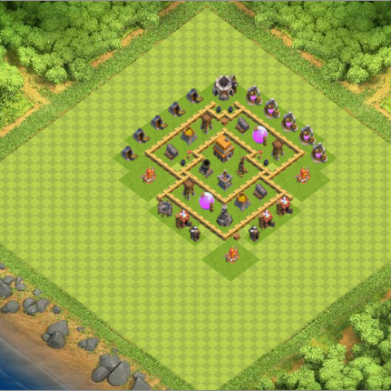 Base Coc Th 5 Anti Rata 7