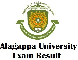 Alagappa University Degree Exam Results 2018