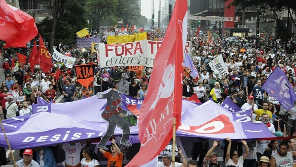 Paro nacional en Brasil en protesta contra medidas de Temer