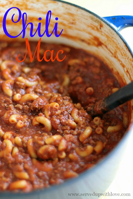 Easy One-Pot Chili Mac recipe from Served Up With Love