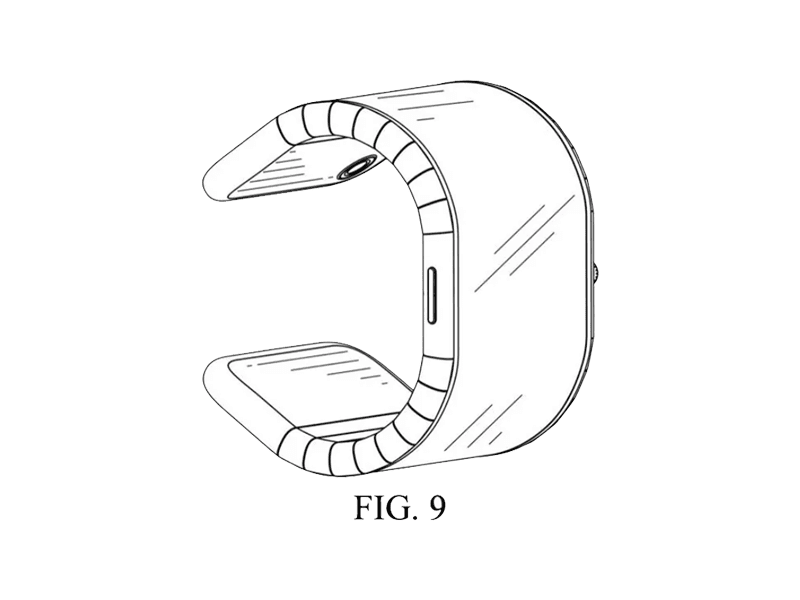 Patent of foldable watch/phone