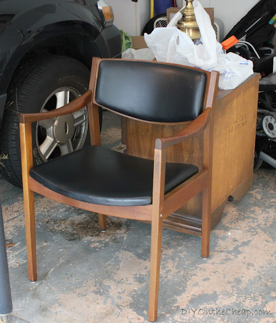Mid-Century Modern chair found at a thrift store