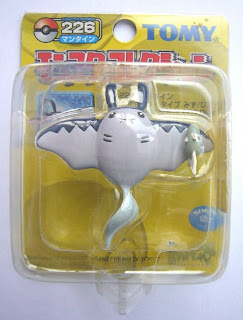Mantine Pokemon Figure Tomy Monster Collection yellow package series