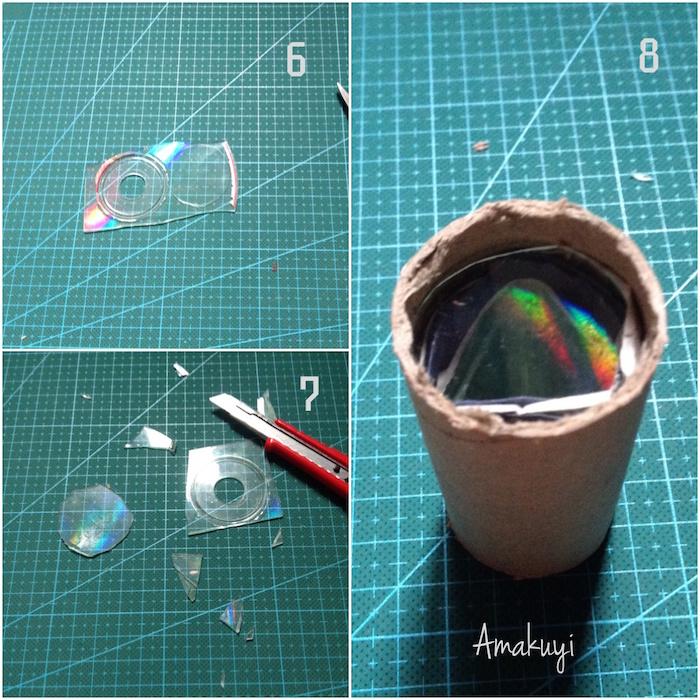 Cómo hacer un caleidoscopio casero reciclando rollos de papel higiénico y otros materiales