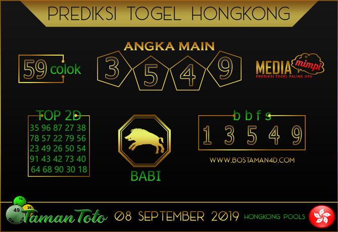 Prediksi Togel HONGKONG TAMAN TOTO 08 SEPTEMBER 2019