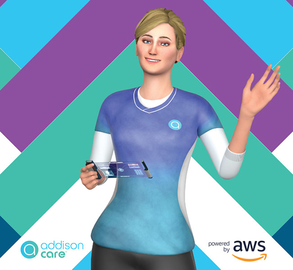 "What's being called the ""world's first virtual caregiver,"" known as Addison Care, will make its first public appearance at the 2019 Consumer Electronics Show."