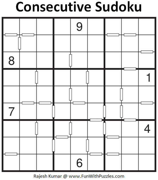 Consecutive Sudoku Puzzle (Fun With Sudoku Series #264)