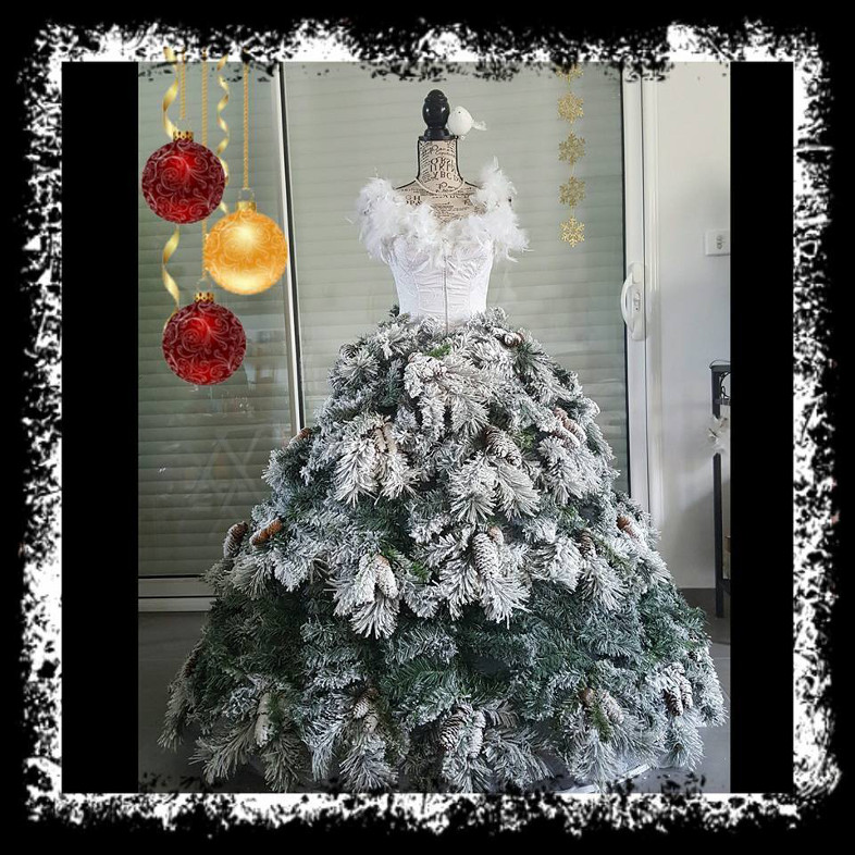 id e originale comment faire son arbre de no l avec son buste de couture bettinael passion. Black Bedroom Furniture Sets. Home Design Ideas