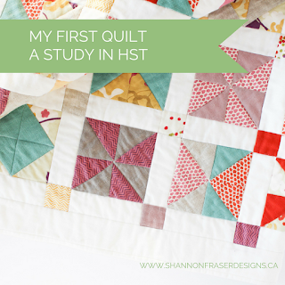 My First Quilt - A Study in Half Square Triangles | Modern Quilting | Shannon Fraser Designs |