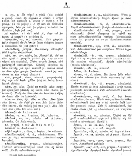 A scan of a printed page showing two columns of text showing dictionary entries in Kashubian.