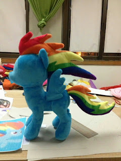 Knockoff Rainbow Dash Rainbow Power Plushie