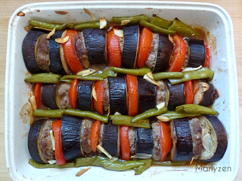 Kebab d'aubergine (Patlıcanlı kebap)
