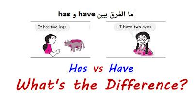 شرح الفرق بين have و has و متى نستخدم have و has