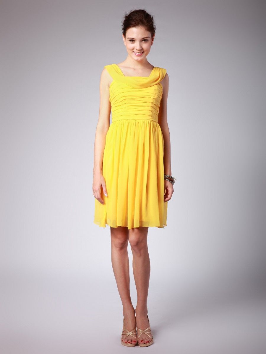 Raining Blossoms Bridesmaid Dresses: Yellow Bridesmaid ...