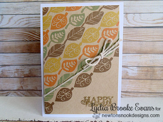 Fall Leaf Card by Lydia Brooke for Newton's Nook Designs | Falling into Autumn Stamp set