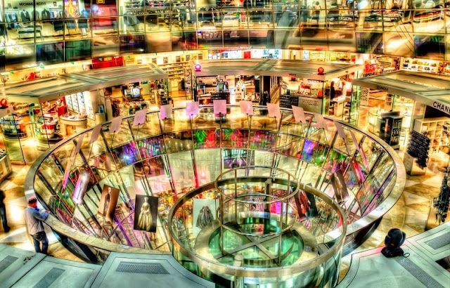Compras perfumes na Galeries Lafayette
