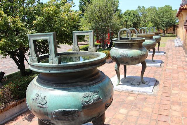 Innenhof vom Kaiserpalast Hue Vietnam