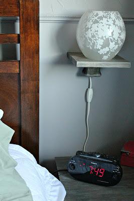floating bedside shelf - cerusing