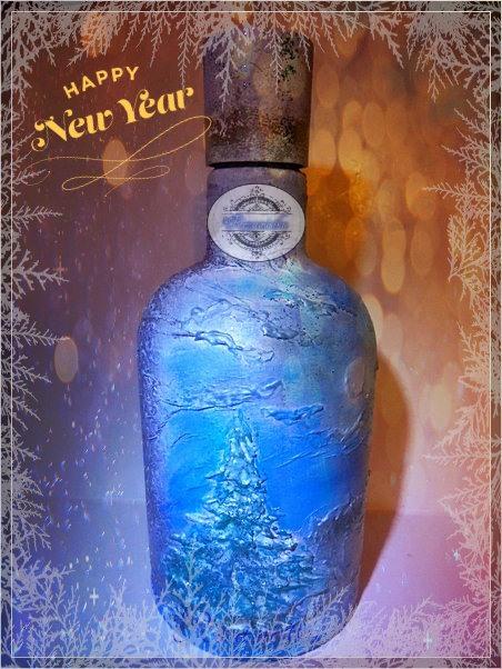 новогодняя бутылочка с секретом