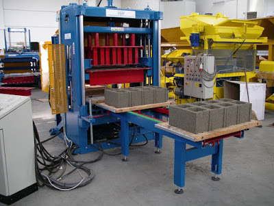Stationary type block making machine from Italy