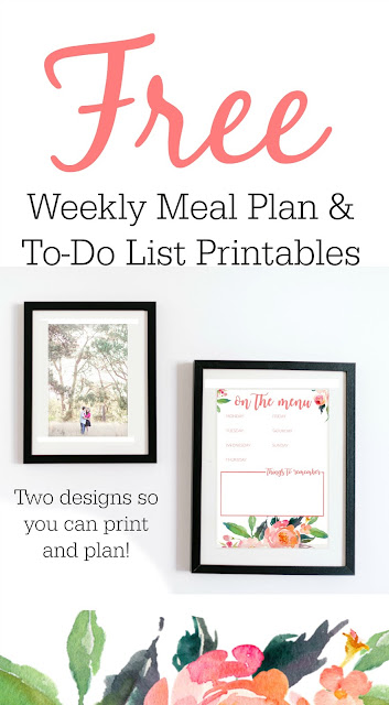 Free Weekly Meal Plan Template and To Do List Printables