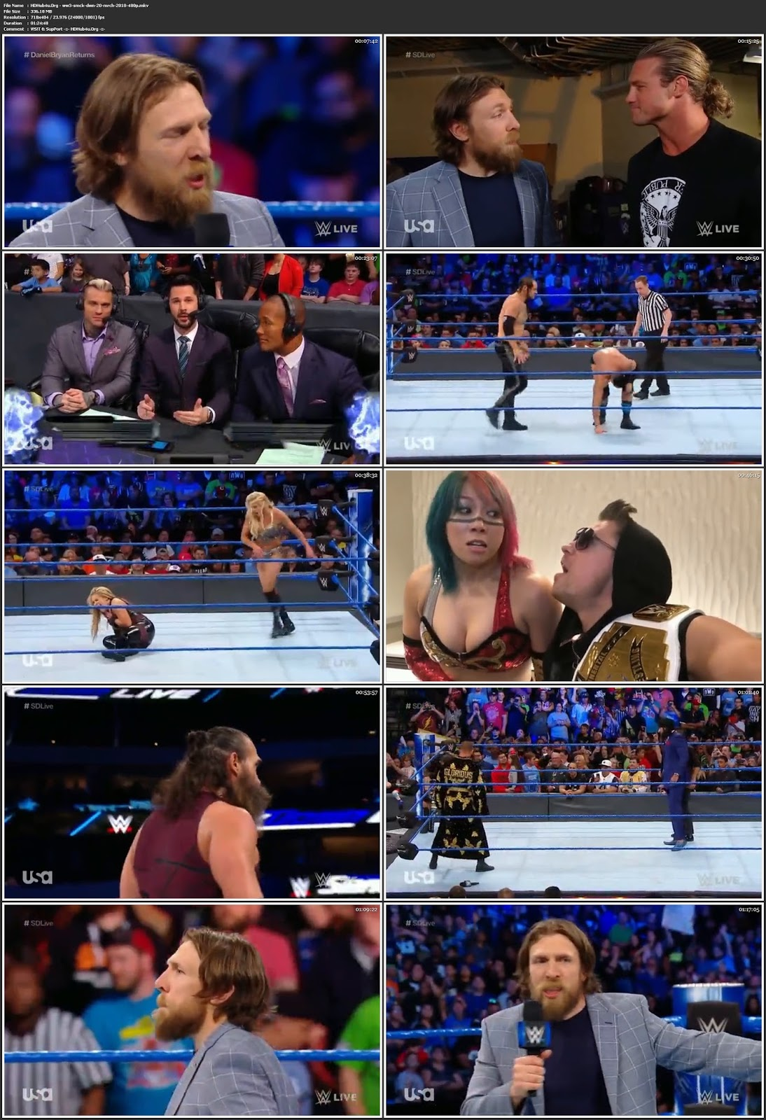 WWE Smackdown Live 20th March 2018 HDTV 480p 300MB Download