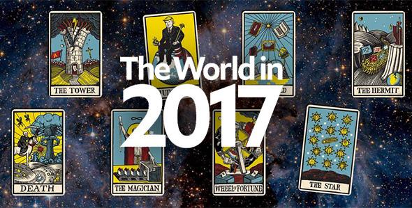 portada de the economist con cartas de tarot
