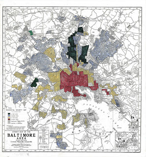 Baltimore red-lining map, 1937