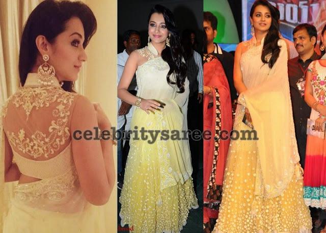 Trisha Designer Half Saree