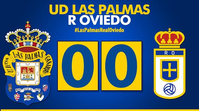 Marcador final UD Las Palmas 0-0 Real Oviedo