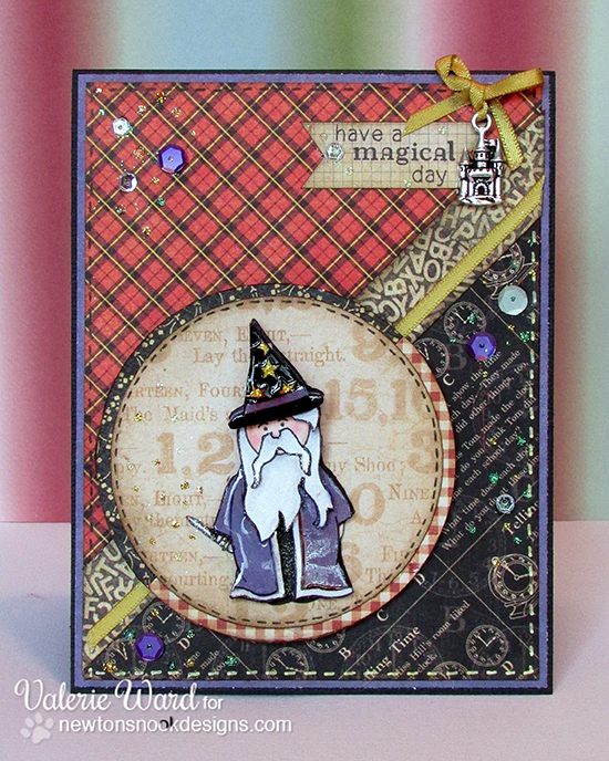 Magical Day Wizard Card by Valerie Ward using Magical Dreams Stamp Set - Newton's Nook Designs