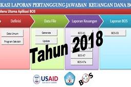 Aplikasi Laporan Pertanggungjawaban Dana BOS Tahun 2018