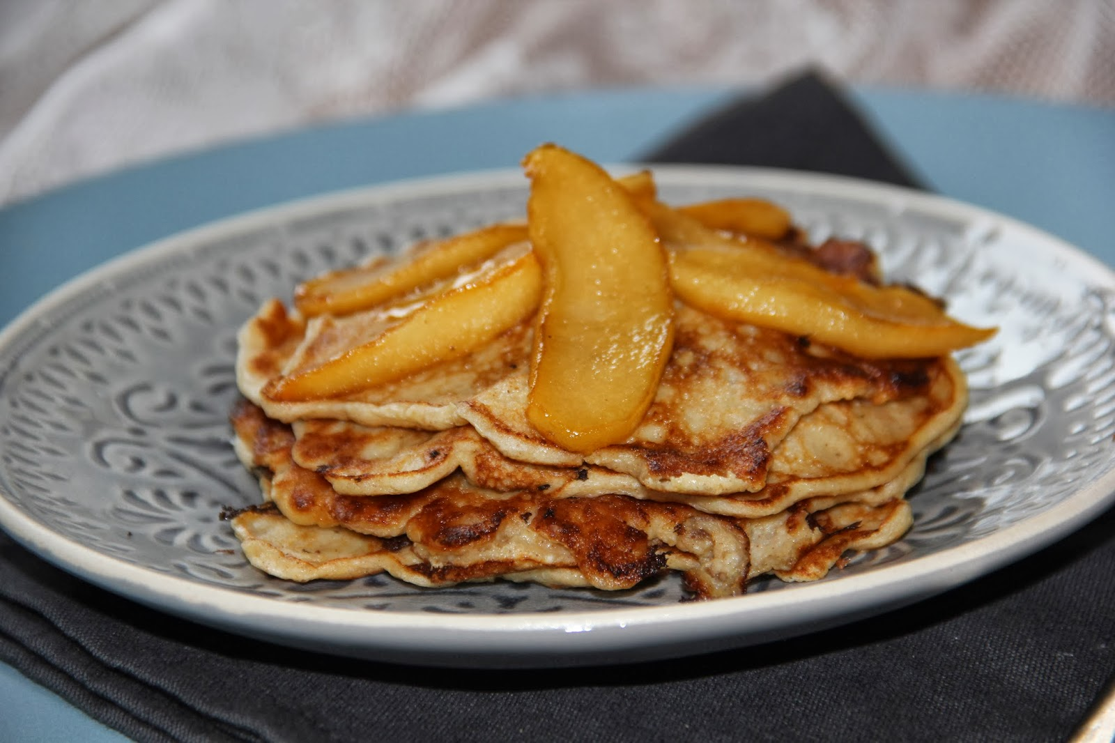 Havermout pannenkoekjes met gekarameliseerde appel - www.desmaakvancecile.com