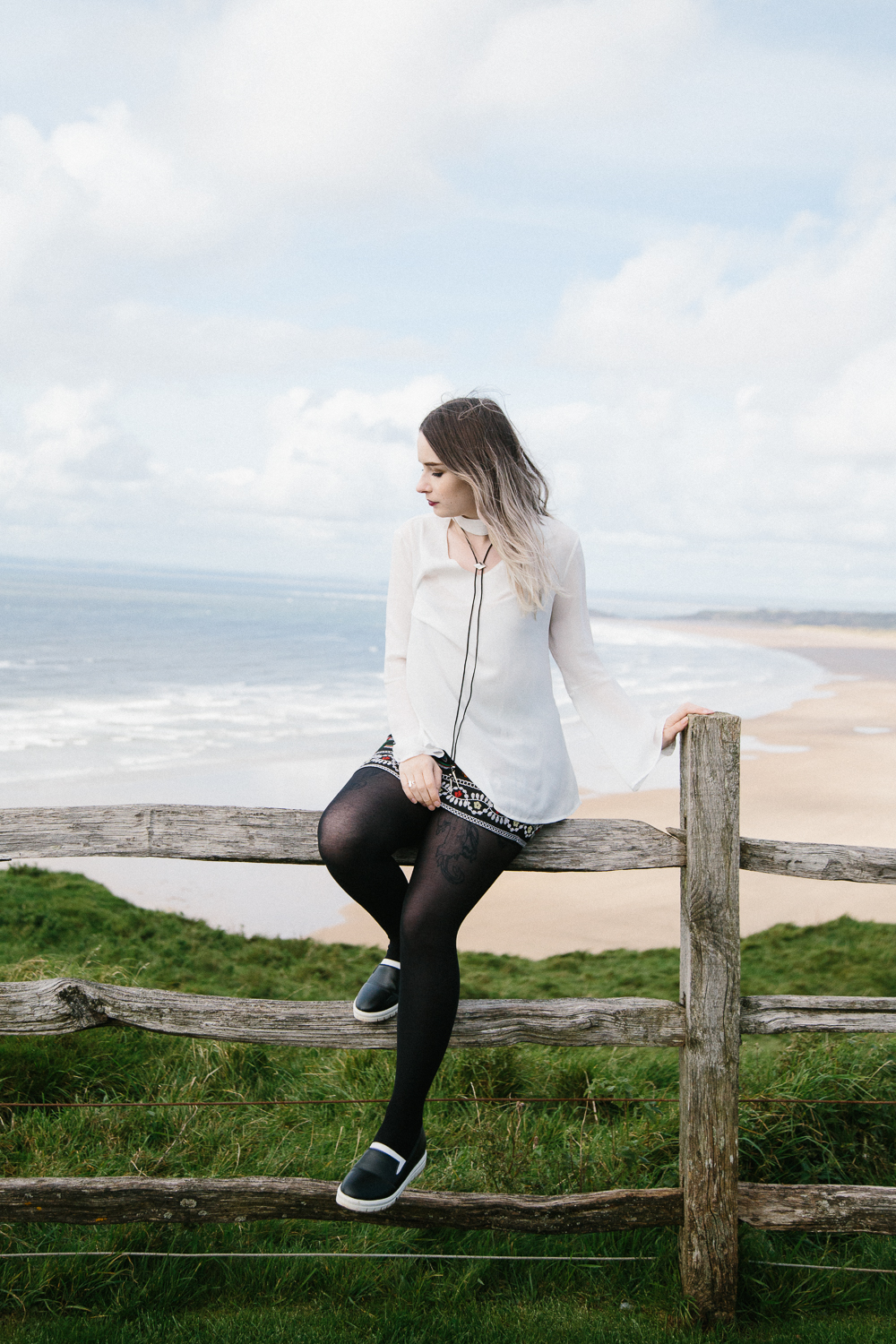 Monochrome Autumn Outfit Embroidery Trend