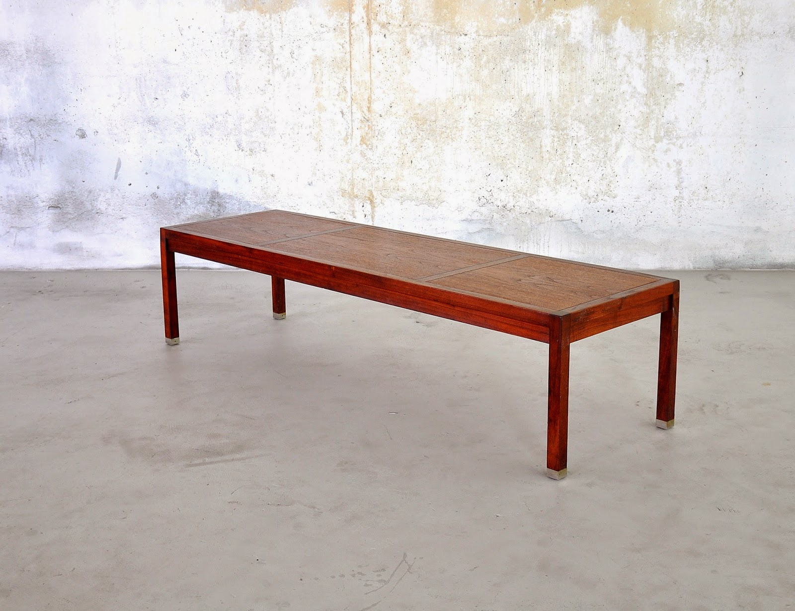Select modern dunbar style coffee cocktail table or bench for 60s style coffee table