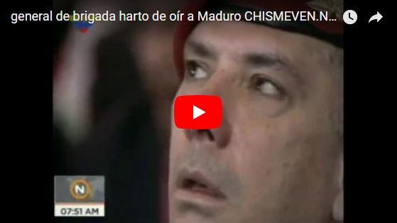General demuestra lo harto que está de escuchar a Maduro