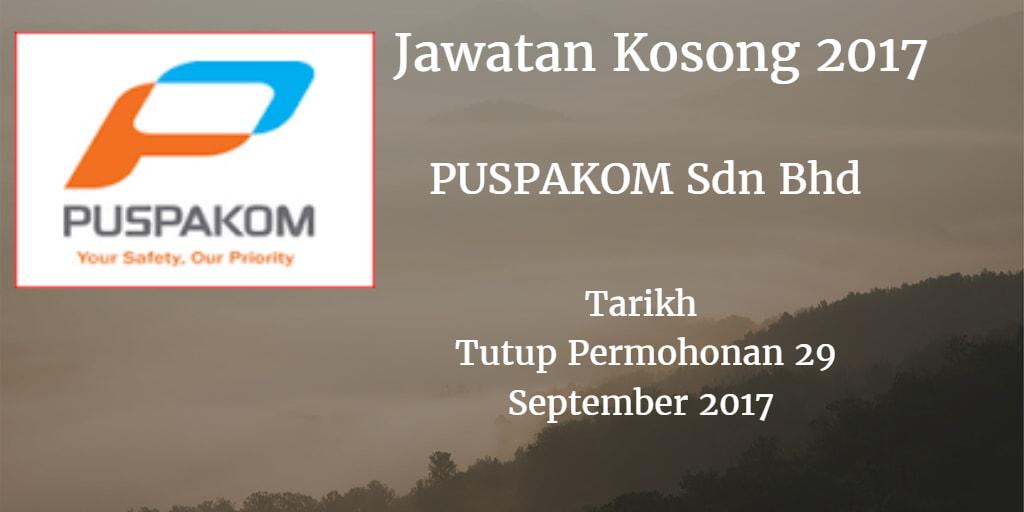 Jawatan Kosong PUSPAKOM Sdn Bhd  29 September 2017