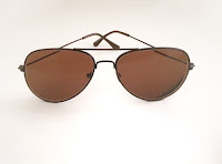 light brown foster aviator prescription sunglasses