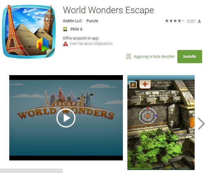 Soluzioni World Wonders Escape di tutti i livelli