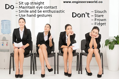 Do's and dont's postured in interview