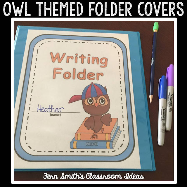 Do You Have a Owl Themed Classroom ? Your students will love these daily work folder covers for their student binders and you will love how organized these folders make your classroom management easier! There are SIX different character / color schemes included with this resource. Fern Smith's Classroom Ideas at TeachersPayTeachers.