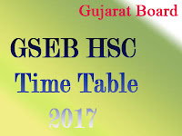 GSEB 12th Time Table 2017 at gseb.org
