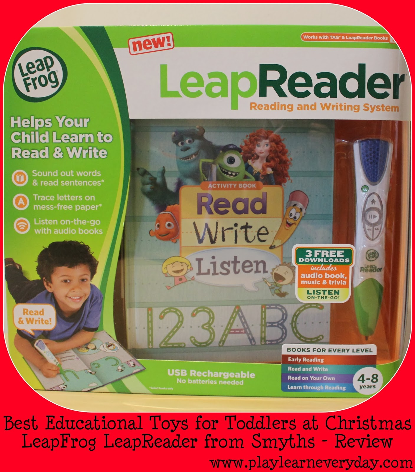 LeapFrog LeapReader from Smyths Educational Christmas Toy Review
