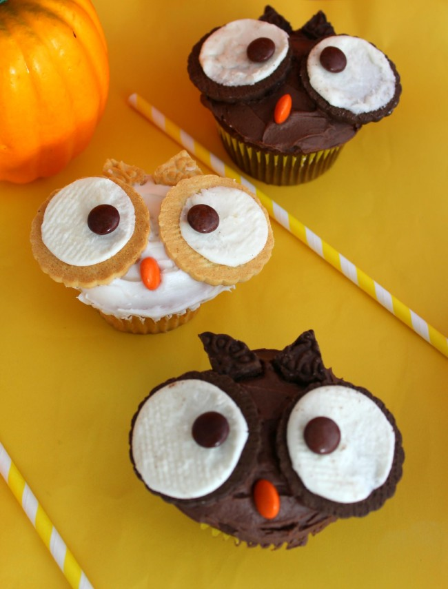 Fall Owl Cupcakes from Generations of Savings.