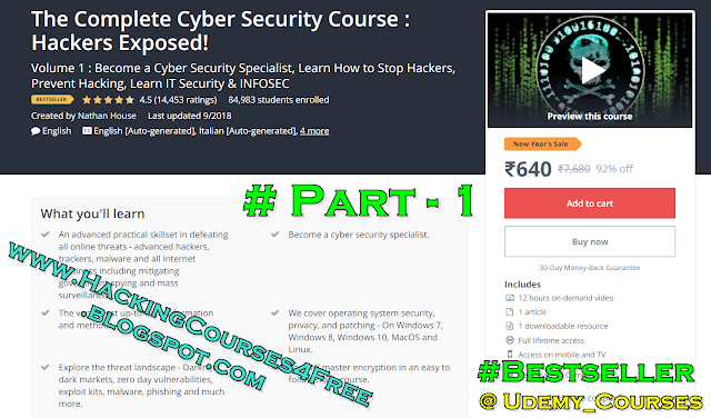 THE COMPLETE CYBER SECURITY COURSE : HACKERS EXPOSED! Free Download | Udemy Hacking Courses Free Download. THE COMPLETE CYBER SECURITY COURSE : HACKERS EXPOSED! free download, Ethical Cyber Security hacking courses free download, Udemy Cyber Security/hacking courses for free, Udemy courses free download, The complete Cyber Security & Hacking course free download in hindi.