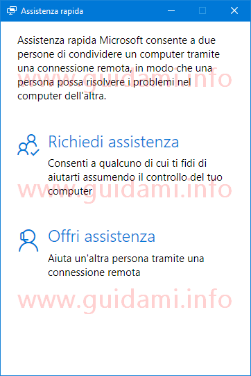 Windows 10 app Assistenza rapida