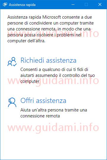 Windows 10 app Assistenza rapida