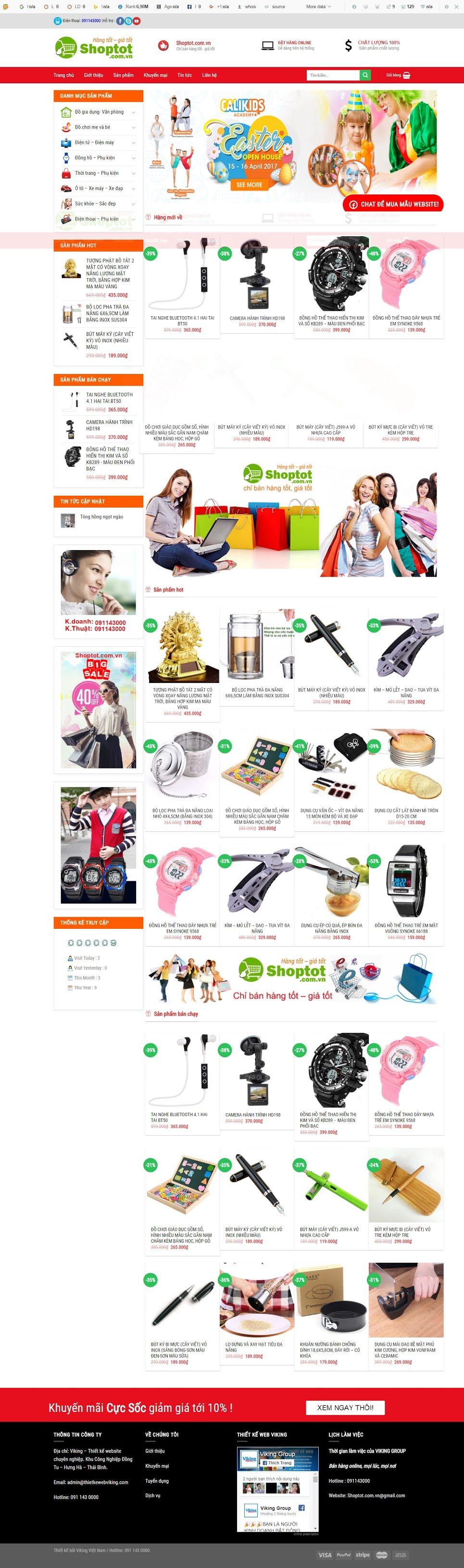 MẪU BÁN HÀNG 056 - siêu thị online