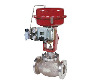 heavy duty industrial control globe valve with pneumatic actuator