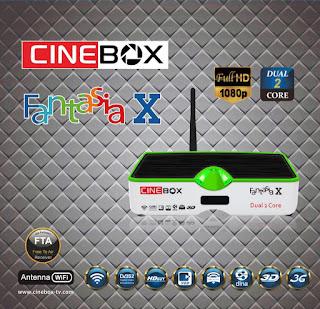 ATUALIZAÇÃO CINEBOX FANTASIA X DUAL CORE - 30/04/2016